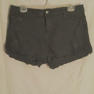 NWT Joe Boxer Blk Cut offs with lace inserts sz 11